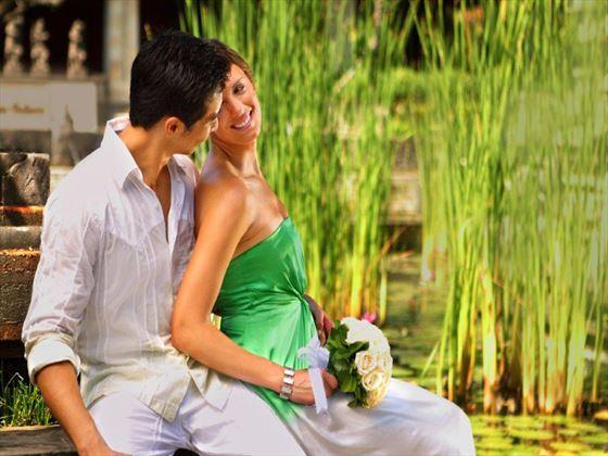 Wedding couple at Nusa Dua Beach Hotel