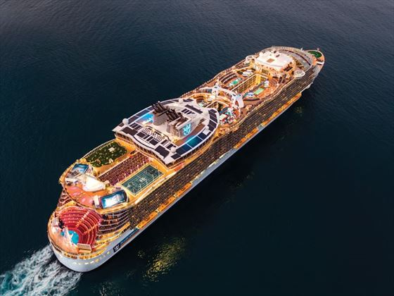 Aerial view of Oasis of the Seas