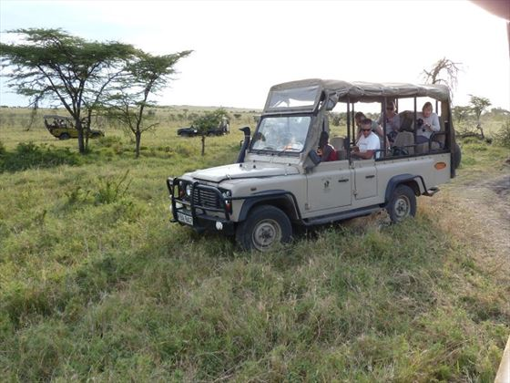 Porini Lion Camp game drive vehicle