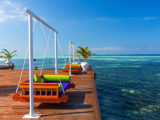 Olhuveli Beach & Spa Resort, viewing deck