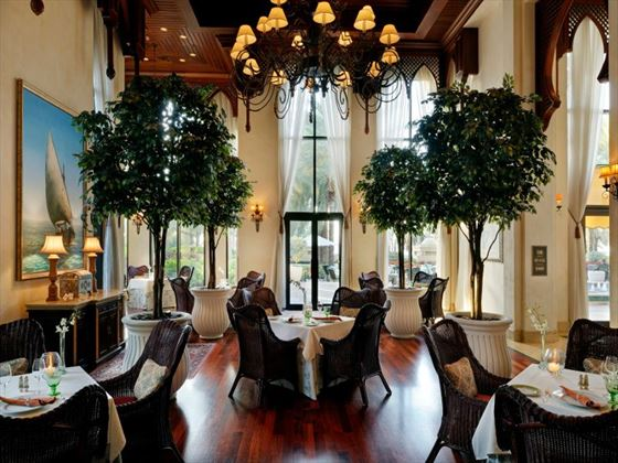 One&Only Royal Mirage Residence & Spa dining room