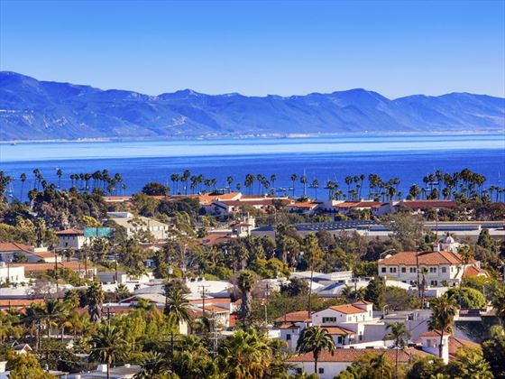 Santa Barbara on California's Pacific Ocean coastline