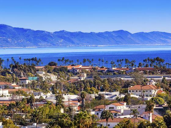 Santa Barbara on California's Pacific Ocean coastline
