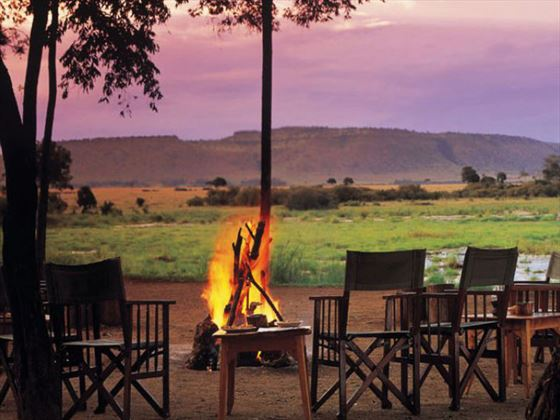 Outdoor boma at Little Governors Camp