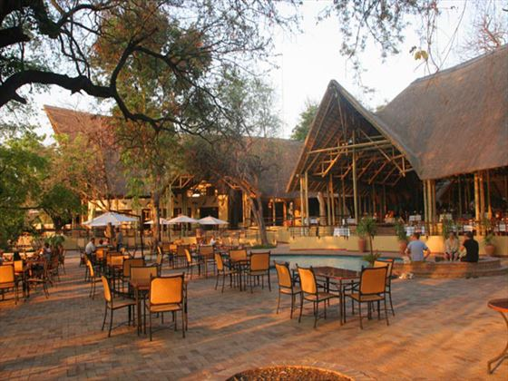 Outdoor dining at Chobe Safari Lodge