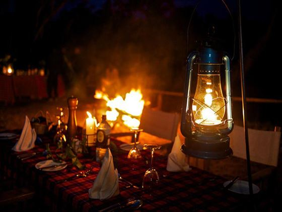 Outdoor dining at Mara Intrepids