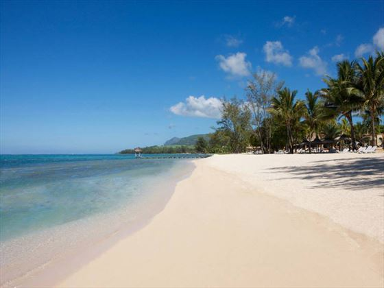 he most extensive white sand beach of the South West coast of Mauritius!