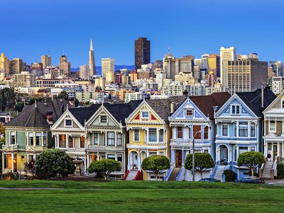 'Painted Ladies' on Alamo Square, San Francisco