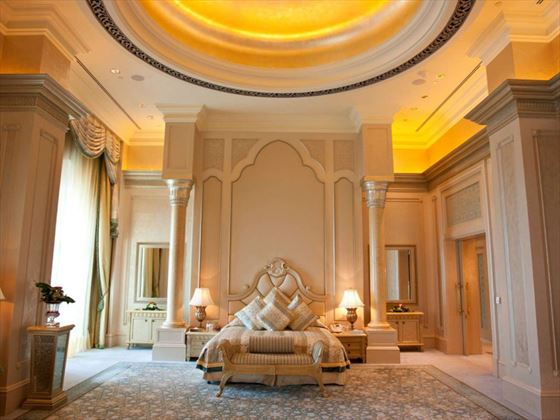 Palace Suite master bedroom at Emirates Palace