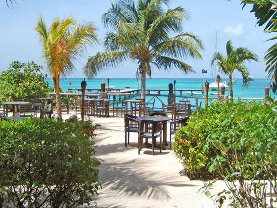 Palapa restaurant at Tamarind Beach Hotel & Yacht Club