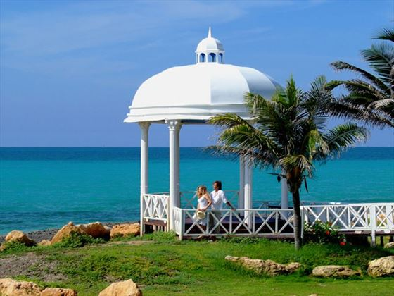 Wedding gazebo overlooking the sea