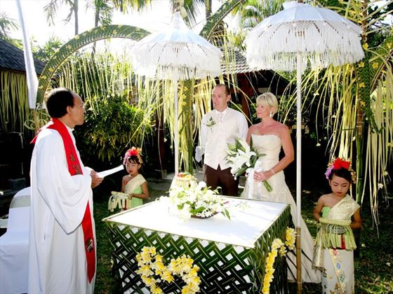 Traditional Bali wedding