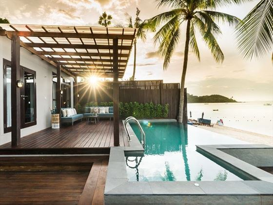 Two Bedroom Beachfront Pool Villa