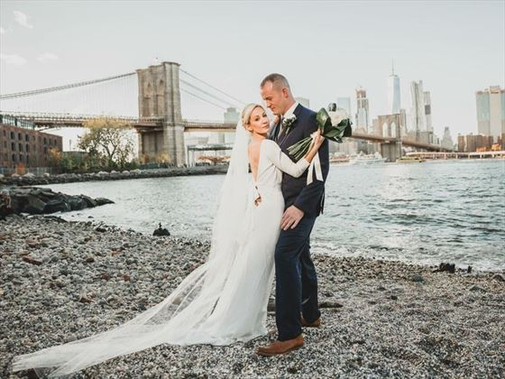Bride & Groom, Pebble Beach, Brooklyn