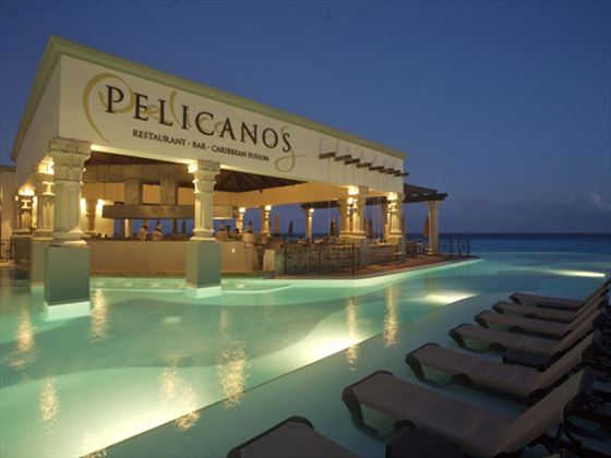 Pelicanos Caribbean seafood restaurant at The Royal Cancun