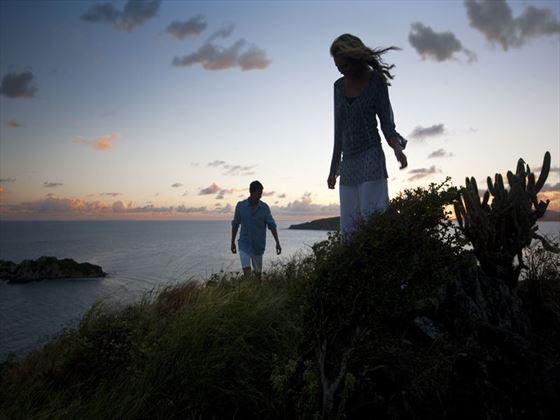 Sunset over Peter Island