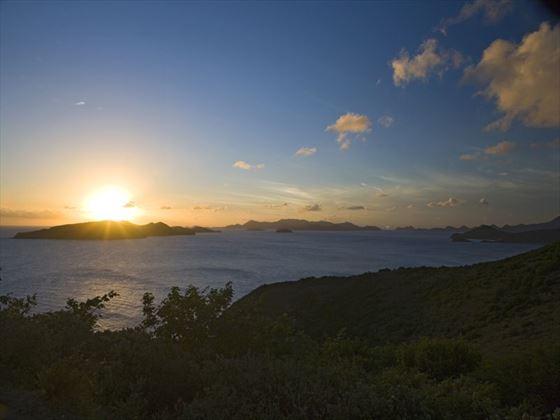Peter Island at sunset