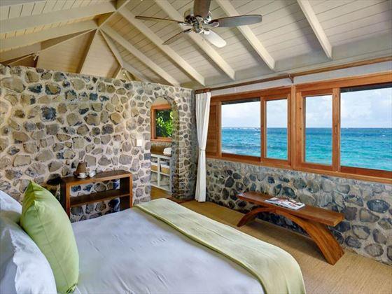 Petit St Vincent One-bedroom Cottage Room
