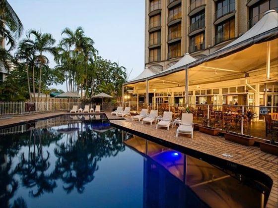 Poolside Restaurant Outdoor Seating