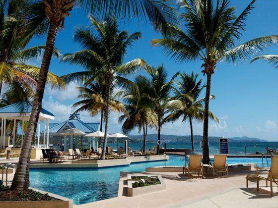 Pool loungers at Magdalena Grand Beach Resort