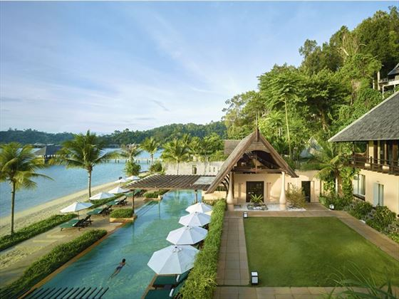 Pools at Gaya Island Resort Borneo
