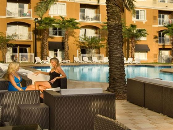 Poolside loungers at The Point Orlando Resort
