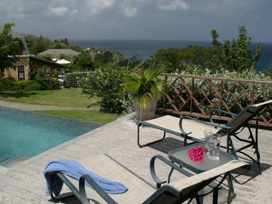 Poolside sun terrace at The Villas at Stonehaven