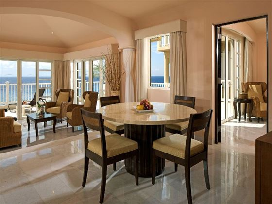 Presidential Suite living room at Cozumel Palace
