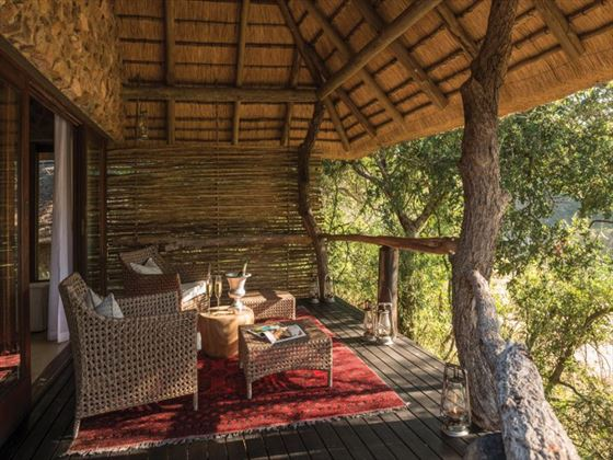 Private deck at Dulini Lodge