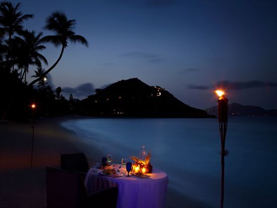 Private dining at Peter Island