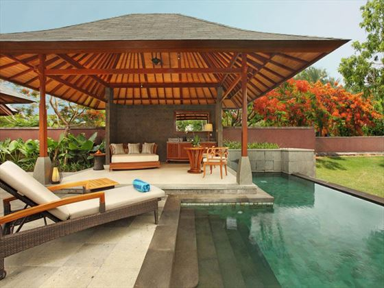 Private pool at Hilton Bali Resort