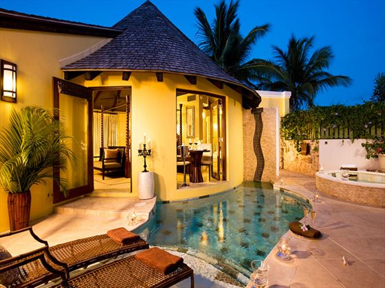 Private pool at Sandals LaSource Grenada Resort & Spa (artists impression)