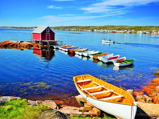 Punt boats on Fogo Island