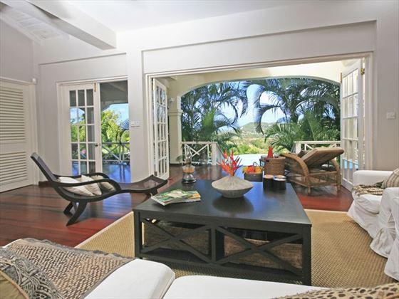 Living area through to terrace