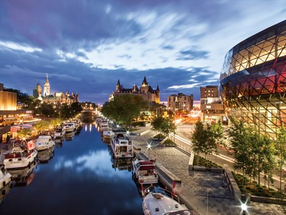 Rideau Canal at dusk, Ontario