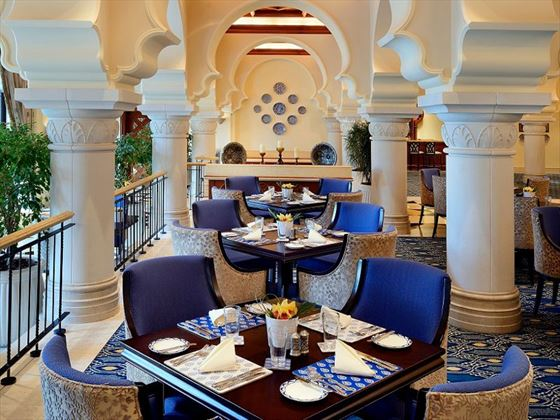 Rotisserie dining room at One&Only Royal Mirage Arabian Court