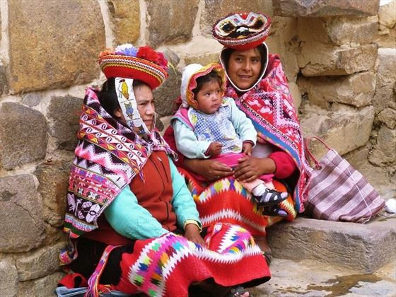 Local family at the Sacred Valley