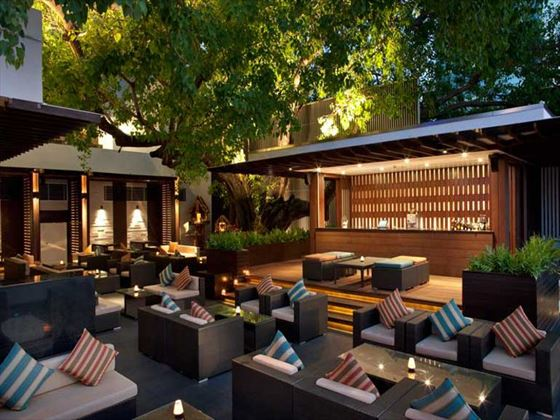 Sambal Bar and Grill outdoor seating at Royal Orchid Sheraton