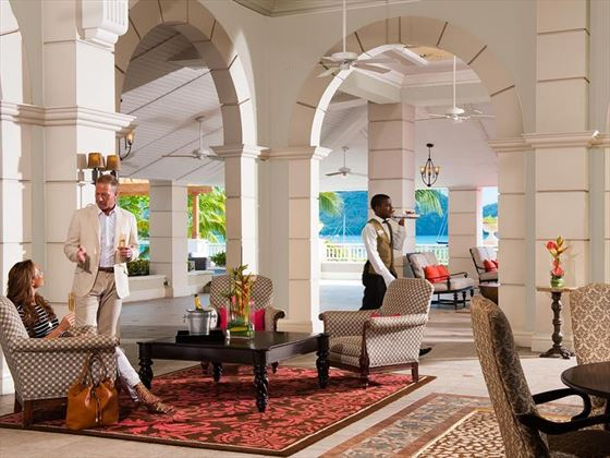 Sandals Grande St Lucian open air lobby