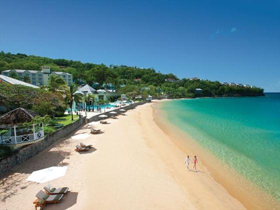 Sandals Regency La Toc beach