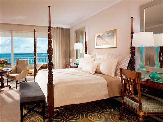 Sandals Royal Bahamian Spa Resort Beachfront Penthouse bedroom
