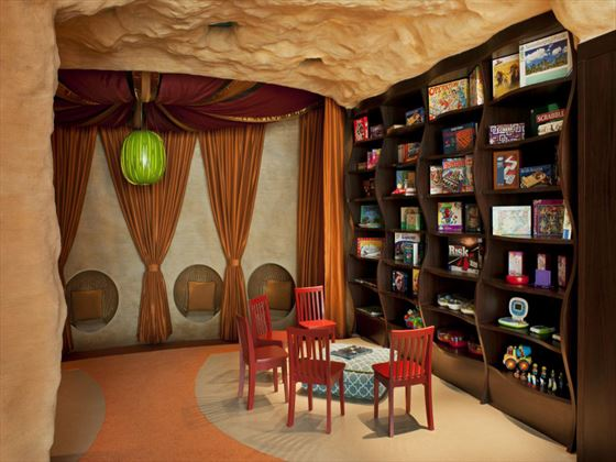 Sandcastle Kids Club library at St Regis Saadiyat Island