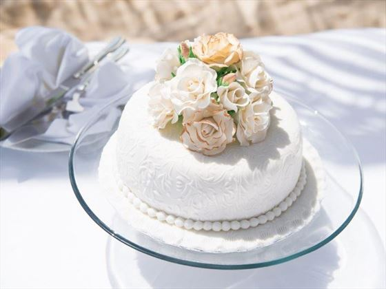Your wedding cake, at Sugar Bay Barbados