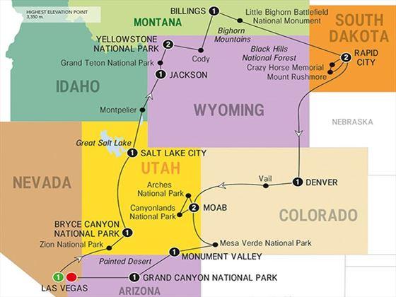 Scenic Parks Explorer route