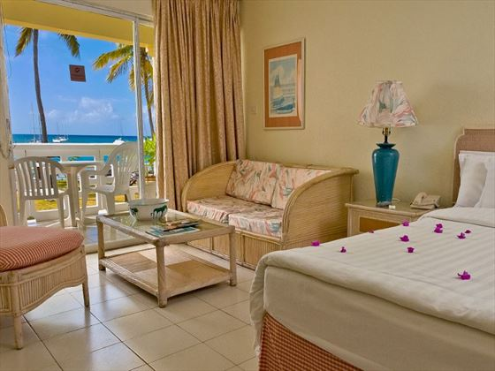 Sea-Facing room at St Lucian by Rex Resorts