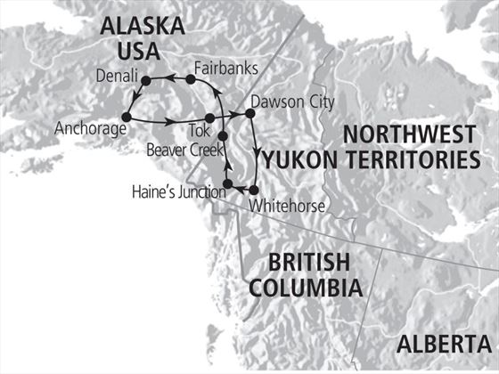 Yukon & Alaska Explorer Map