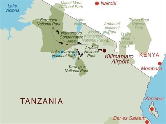 Serengeti Explorer Map