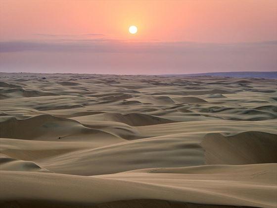 Serra Cafema Sand Dunes at Sunset, Namibia