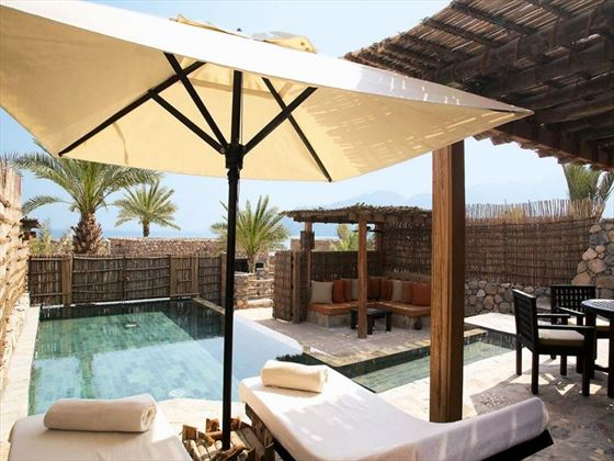 Six Senses Zighy Bay, Pool Villa deck