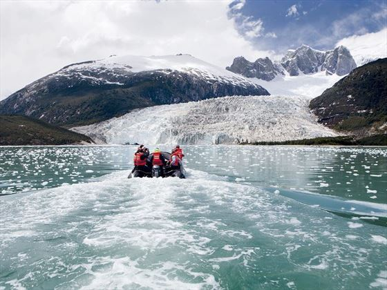 Small Boat excursion to Pia Fjord Glacier